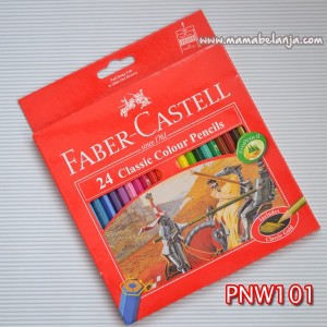 PNW101	Pensil Kayu / Pensil Warna Faber Castell Classic isi 24