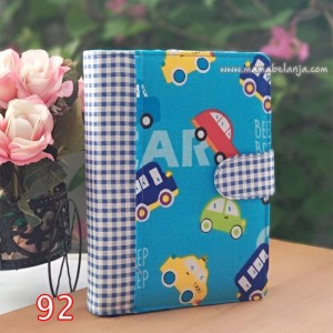 CVR1-092 Cover / Sampul AlQuran Model Agenda Motif Cars
