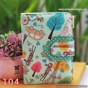 CVR1-104 Cover / Sampul AlQuran Model Agenda Motif Paris Hijau Tosca