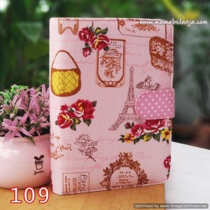 CVR1-109 Cover / Sampul AlQuran Model Agenda Motif Paris & Tas Pink