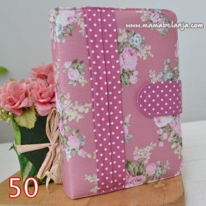 ALQ1-050 Alquran & Cover / Sampul Cantik / Keren Model Agenda Motif Mawar Dusty Pink Dot Purple