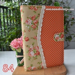 CVR1-084 Cover / Sampul AlQuran Model Agenda Motif Mawar Terracota