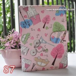 CVR1-087 Cover / Sampul AlQuran Model Agenda Motif Paris Pink