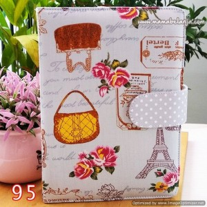 CVR1-095 Cover / Sampul AlQuran Model Agenda Motif Paris & Tas Abu