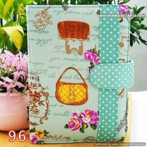 CVR1-096 Cover / Sampul AlQuran Model Agenda Motif Paris & Tas Hijau