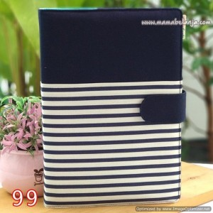 CVR1-099 Cover / Sampul AlQuran Model Agenda Motif Garis Navy