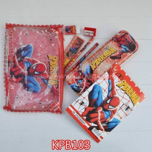 KPB103	Kotak Pensil 1 Set Buku Motif Spiderman Merah