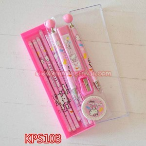 KPS103	Kotak Pensil Set isi - Hello Kitty
