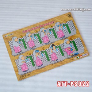 ATT-PS022	Puzzle Sticker Wudhu Perempuan