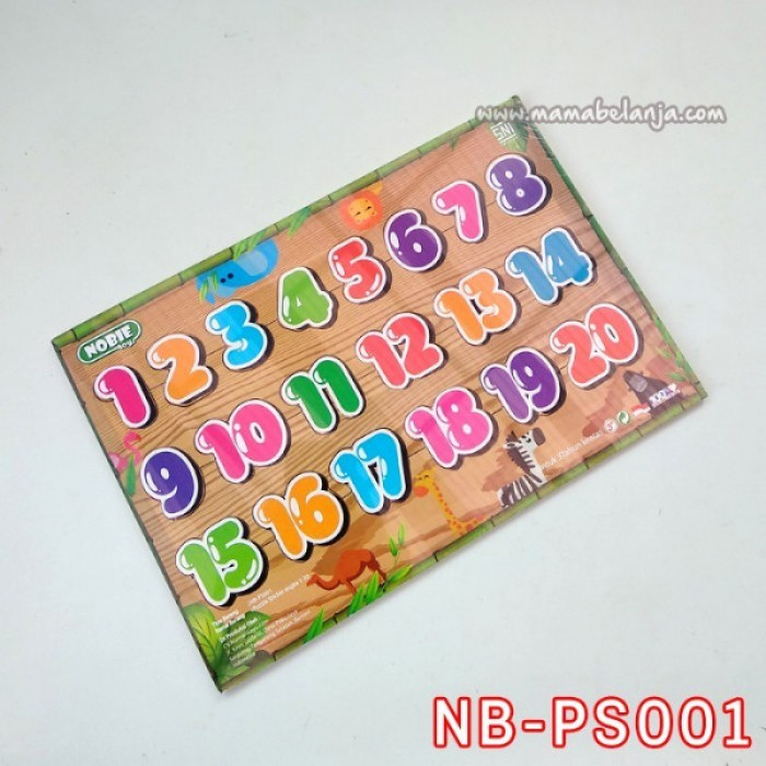 NB-PS001 Puzzle Sticker Angka 1-20