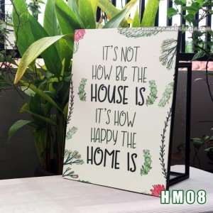 HM08 Poster Dekorasi Rumah / Hiasan Dinding Motivasi - Its Not How Big The House