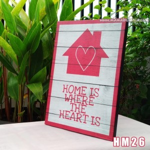 HM26 Poster Dekorasi Rumah / Hiasan Dinding – Home Is Where The Heart Is