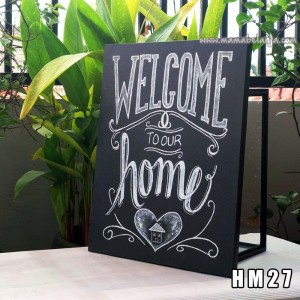 HM27 Poster Dekorasi Rumah / Hiasan Dinding - Welcome To Our Home