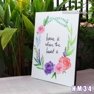 HM34 Poster Dekorasi Rumah / Hiasan Dinding – Home Is Where The Heart Is