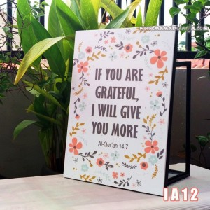 IA12 Poster Dekorasi Rumah / Hiasan Dinding Inspiratif Islami -  If You Are Grateful