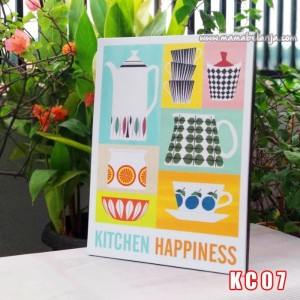 KC07 Poster Dekorasi Rumah / Hiasan Dinding – Kitchen Happines