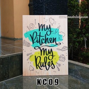 KC09 Poster Dekorasi Rumah / Hiasan Dinding - My Kitchen My Rules