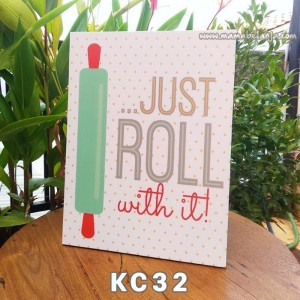 KC32 Poster Dekorasi Rumah / Hiasan Dinding - Just Roll With It