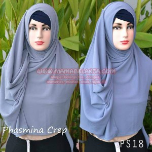PS18	Phasmina Diamond Crep Abu-Abu Tua
